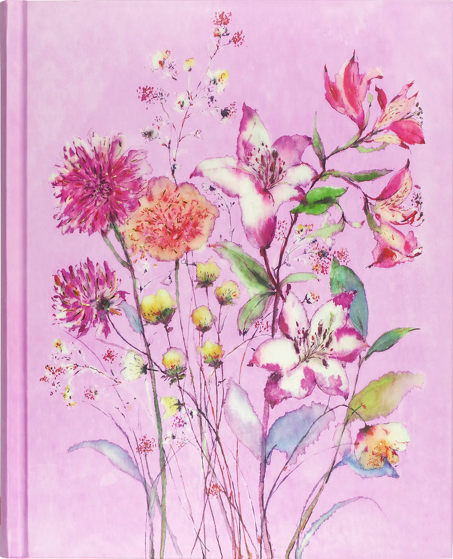 JOURNAL PURPLE WILDFLOWERS
