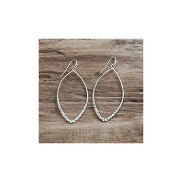 ALMOND EARRINGS - SILVER