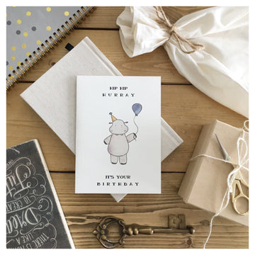 HIP HIP HURRAY CARD