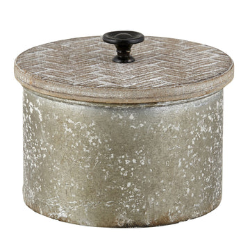 ROUND METAL CONTAINER