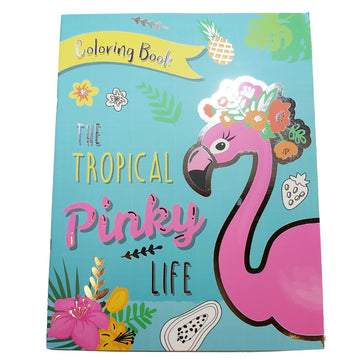 FOIL COVER COLOR BOOK - FLAMINGO