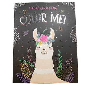 FOIL COVER COLOR BOOK - LLAMA