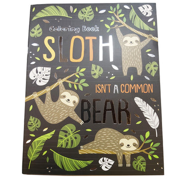 FOIL COVER COLOR BOOK - SLOTH