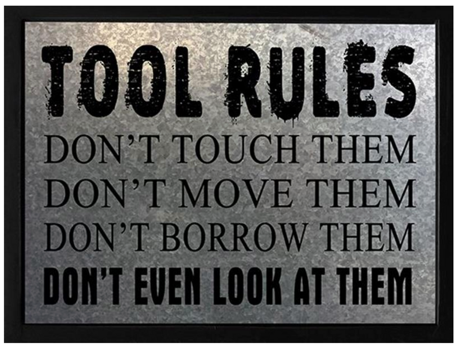 TOOL RULES PLAQUE
