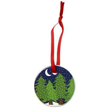 MIDNIGHT SNOW PORCELAIN ORNAMENT