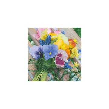 LUNCHEON NAPKIN - COLORFUL POSIE