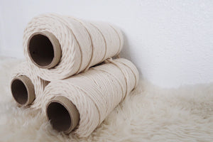 BULK - 5mm 100% Cotton cord - 3 Spools