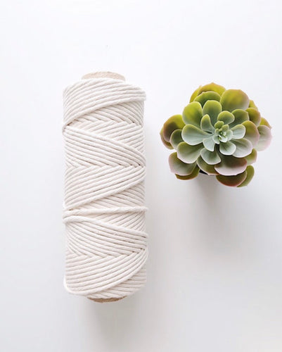 7mm Single Strand Twisted Cotton Cord