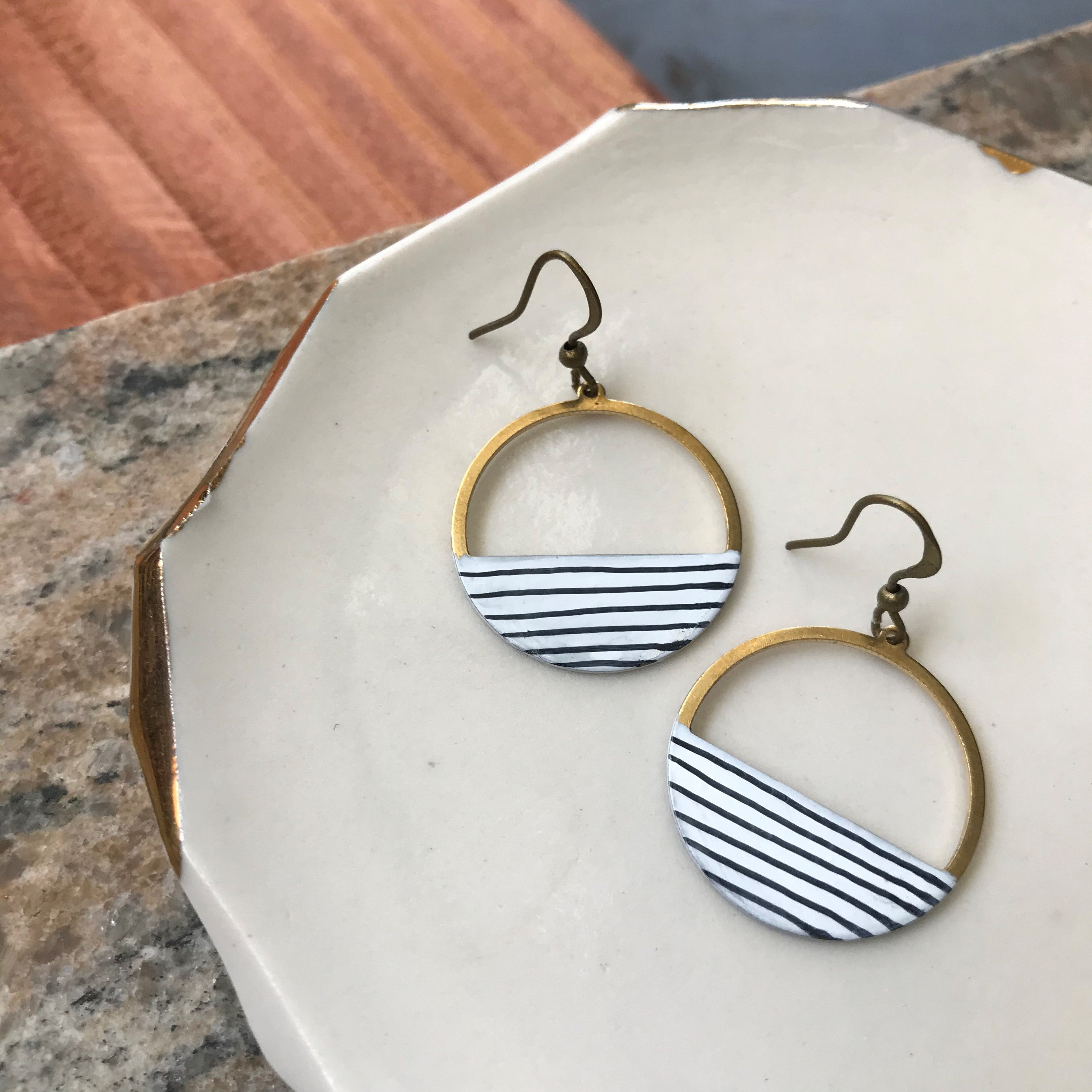 Pinstripe Earrings