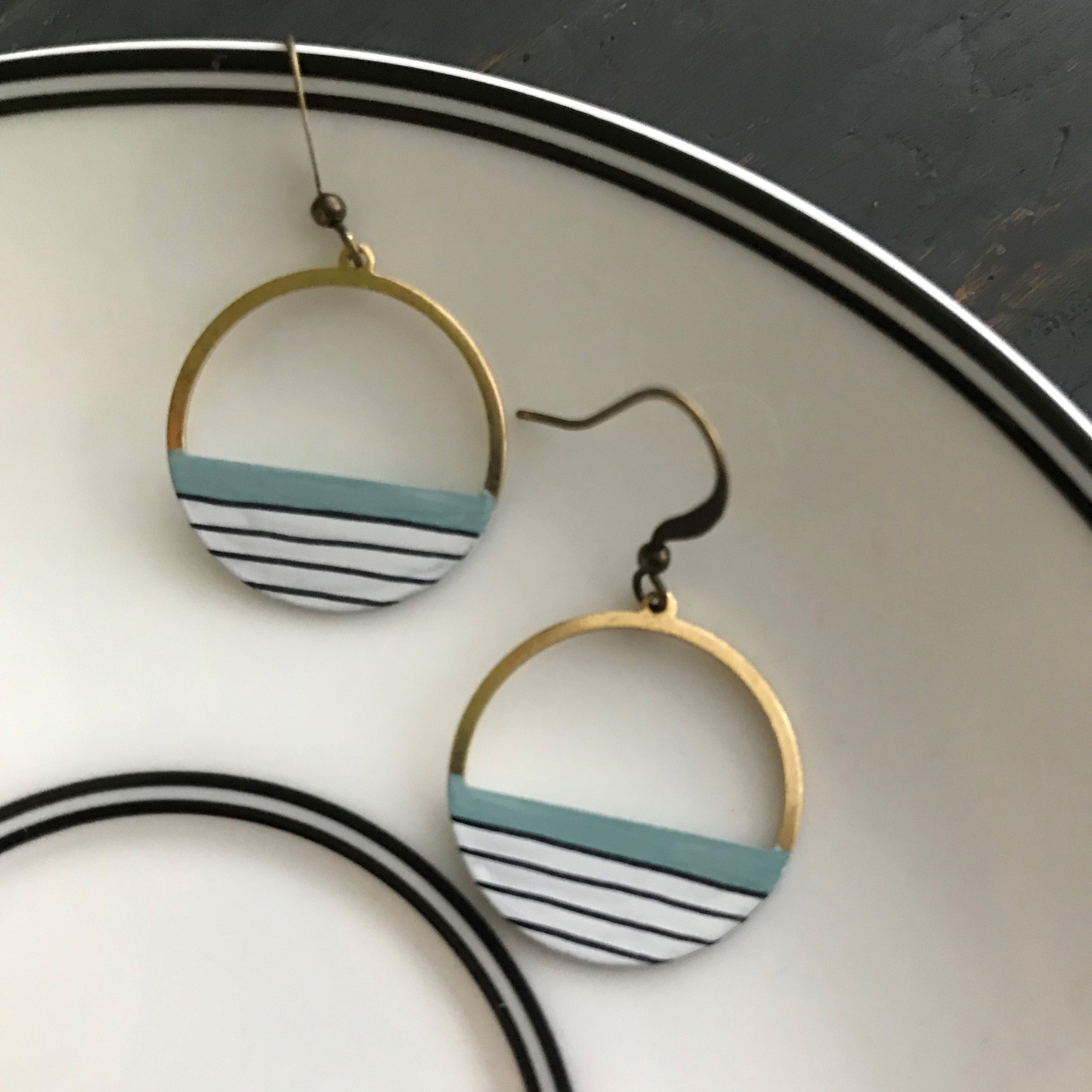 Striped Shoreline Earrings