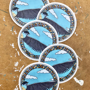 Bird In Flight Vinyl Sticker