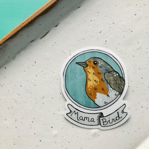 Mama Robin Bird Vinyl Sticker