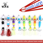 W.P.E 5pcs/lot Size M Multicolor Jig Soft Fishing Lure