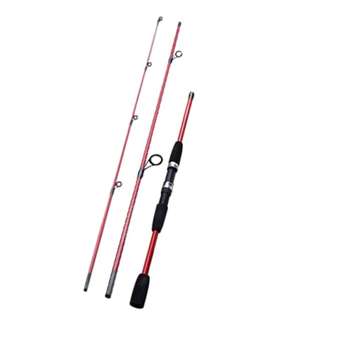 "Balight 2.1 m/6'10"" 3pc Travel Spinning or Casting Fiber Glass Rod"