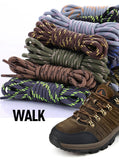 Longer Shoe Laces, Round, Fine, Sneakers, Boots, Hiking, Camping