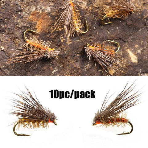 10 pc. pack Deer Hair Dry Flies
