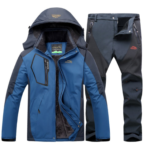Winter Ski, Snowboarding, Snowmobiling, Ice Fishing Suit for Adults. Fleece, Warm, Windproof & Waterproof