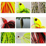 Fishing Lure Set, Skirted Spinnerbaits, 12 pcs