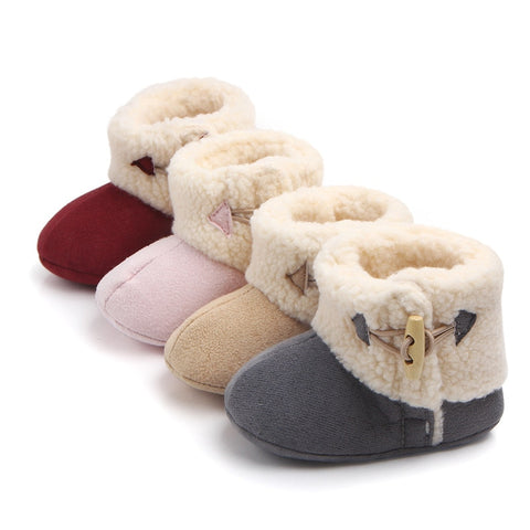 Fashion Winter Baby Boots Warm Ankle Snow Boots Toddler Plush