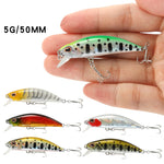 Sinking Jerkbait Fishing Lure, Mini-River Minnow 15 Colors