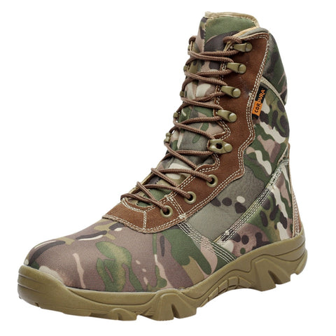 SAGACE Military Tactical Waterproof Camping Climbing Camouflage Boots