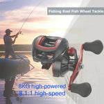 18+1 BB, Bait Casting Reel, 8.1:1 Ratio, 8 kg (17.6 lbs) Max Drag