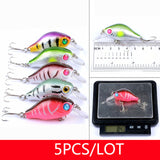 43/46/10/8/6/5 pc Assorted Hard Bait Fishing Lure Sets