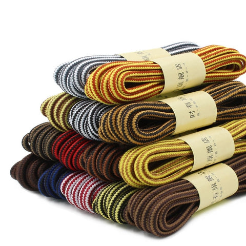 Martin Round Shoe Laces, Striped, Double Color, Hiking