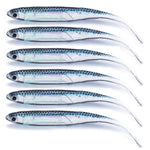 6PCS lot Soft Minnow 9cm Holographic Fluke-Style Bait