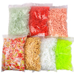 "50PCS 2cm (25/32"") 0.3g (1/64 oz.) Soft Fishing Lure Smell Wax Worms"