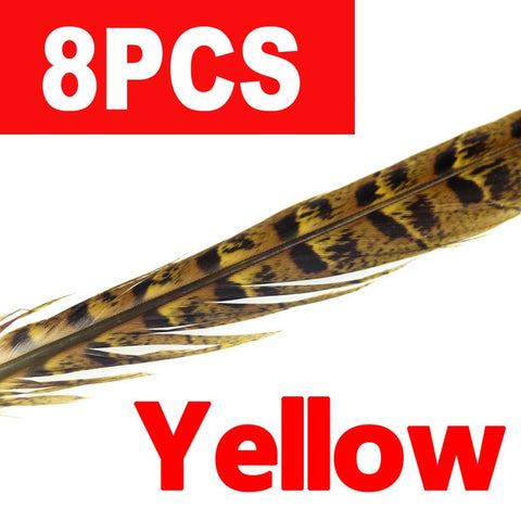 8PCS 10-14inch Multi-colored Hen Pheasant Tail Feathers for Wings Tails and Wingcases, Fly Tying Materials