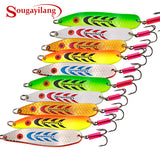 Sougayilang Metal Spoons 5 Colors Pack of 5 or 10