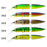 HuntHouse pike minnow hard bait 12cm/16cm  15.5/32g 2 section body 5 colors
