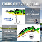 3pcs Sinking Wobbler Fishing Lure Multi Jointed Swimbait