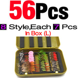 MNFT 1 Set (40/56PCS) Assorted Flies In Boxed Sets