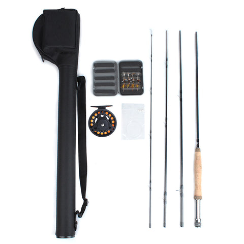 Dr.Fish Fly Fishing Rod Reel Combo Starter Kit 9'  #5/6