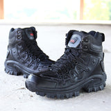 Outdoor Sneakers Hiking Shoes Waterproof Anti-Skidding Leather Warm