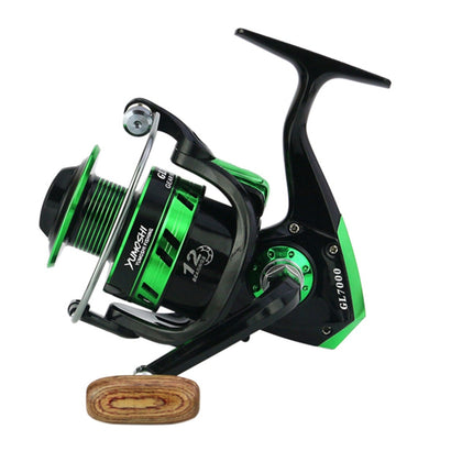 Full Metal Spinning Reel 5.5:1 Ratio, 12BB  8kg/17Lb Max Drag