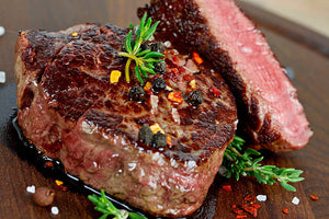 Beef Tenderloin Filets, Dry Aged Charolais, 2 Filets, .70-1,0 LBS. Weight Range.