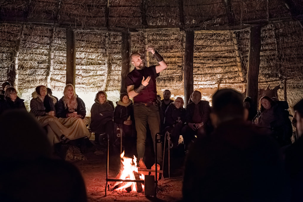 viking storyteller jason buck playing valhalla festival