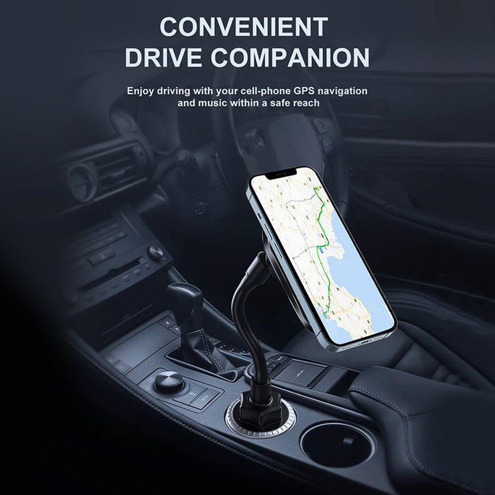 Car Cup Holder Phone Mount Magnetic Wireless Cup Charger Holder for iPhone 12 Mini Pro Max