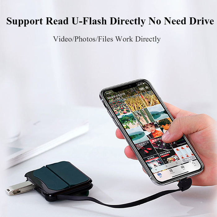 Lightning to USB Camera Adapter for iPhone/iPad Lightning to USB 3.0 Female OTG Connection Kit