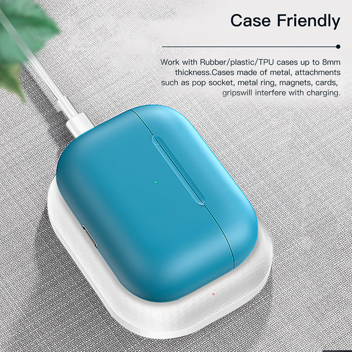Wireless Charger Pad Charging Station for Apple Airpods/Airpods Pro Case