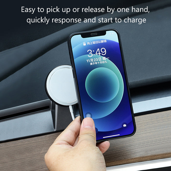 Magsafe Wireless Car Mount Charger for Tesla Model 3 Car Charging for iPhone 12 Mini Pro Max