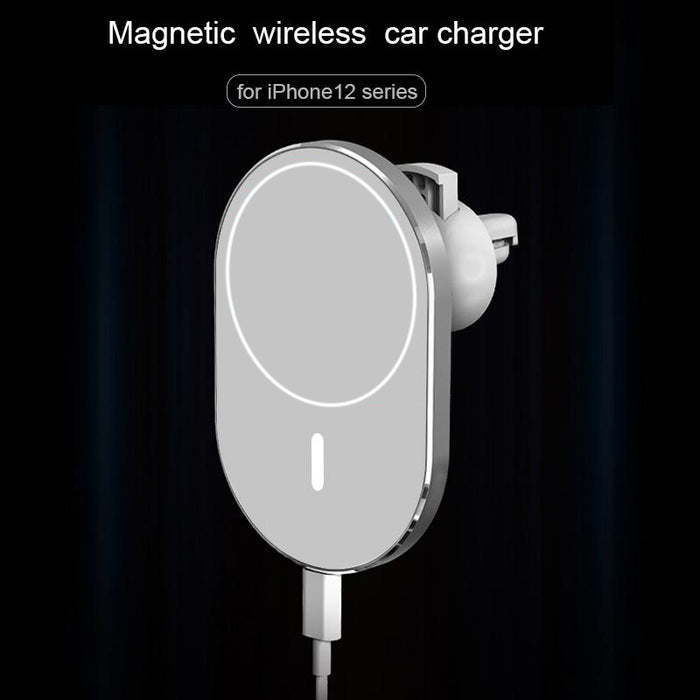 Magsafe Wireless Car Charger 15W Qi Fast Charging Air Vent Car Phone Mount Holder for iPhone 12 Mini Pro Max
