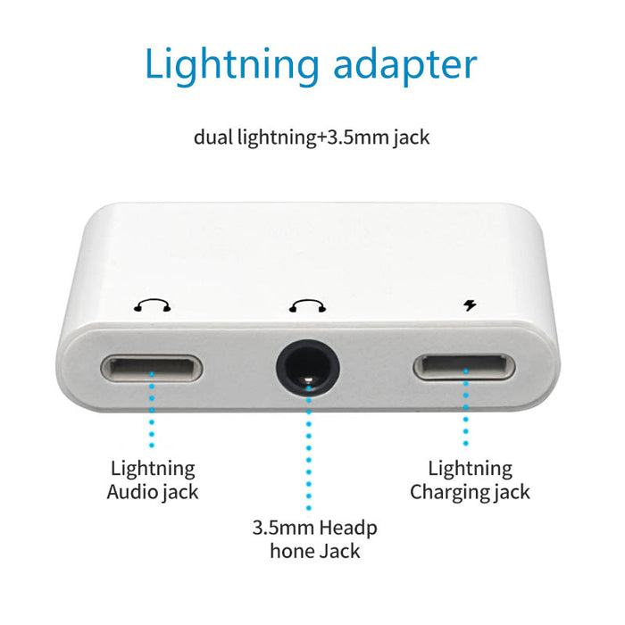 Lightning to 3.5 mm Headphone Jack Adapter for iPhone Splitter Charger and Headphones Adapter