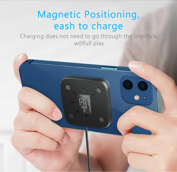 4 in 1 Magnetic Wireless Charger Dock Station for iPhone 12 Apple Watch Airpods Pro