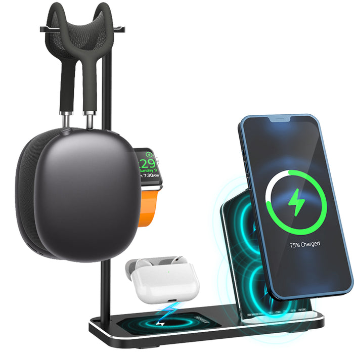 Wireless Charging Station 4 in 1 Wireless Charger Stand Dock for Apple iPhone iWatch Airpods Pro