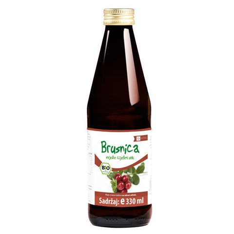 Brusnica Bio sok 330 ml