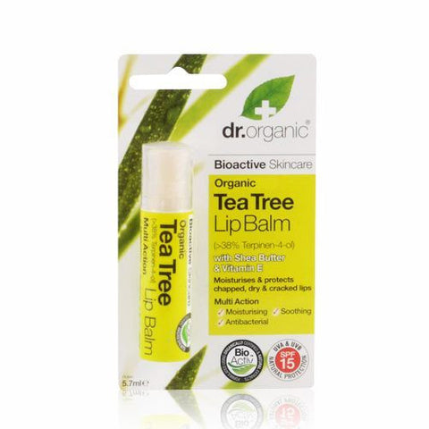 Dr. Organic Tea Tree balzam za usne 5.7 ml